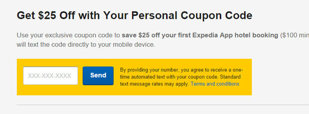 expedia coupon code app