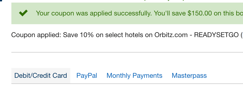 orbitz.com - valid coupons that actually work
